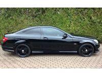 Mercedes c220 amg sport coupe (rare black edition)