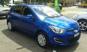 2012 Hyundai i20 PB MY12 Active Blue 5 Speed Manual Hatchback Lidcombe Auburn Area Preview