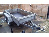 twin axle braked plant trailer