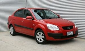 2007 Kia Rio JB Burgundy 5 Speed Manual Sedan Thomastown Whittlesea Area Preview