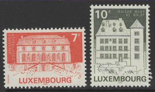 LUXEMBOURG SG1165/6 1985 CLASSIFIED MONUMENTS MNH
