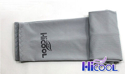 New High Cool 1Pair Arm Sleeves Cooling UV Sun Protect Golf Cycling Toshi Gray
