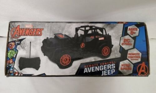 NEW SEALED Marvel Avengers Remote Control RC Black Jeep 27 mhz