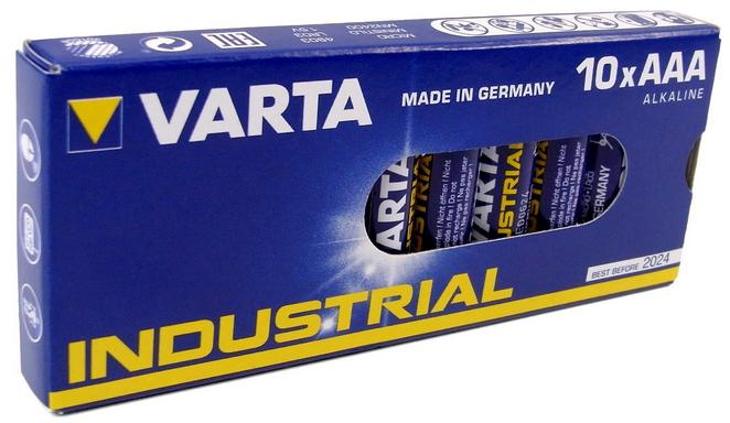 Varta Industrial | 4003 | AAA | Micro | Alkaline | Batterien | LR03 | 1200 mAh