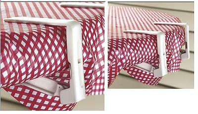 Tablecloth Clips Set Of 4, Spring Loaded Clips Cloth On Table, Sturdy Outdoor