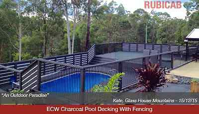 ECW Charcoal Pool Decking with Fencing