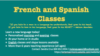 Spanish and French lessons