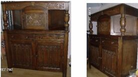 Antique oak unit