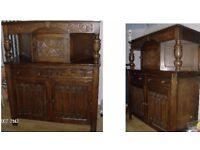 Antique oak unit