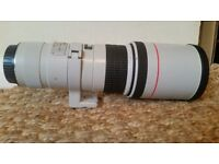Canon EF 400mm f5.6 L lens with original carry case