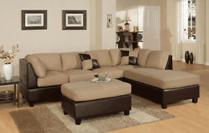 **FREE PERTH METRO DELIVERY** Micro Suede Corner Sofa & Ottoman Bayswater Bayswater Area Preview
