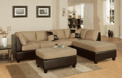 Micro Suede 5 Seat Corner Sofa with FREE Ottoman Bayswater Bayswater Area Preview