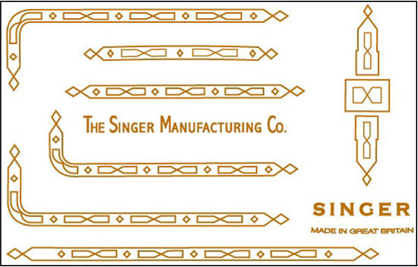 Singer Featherweight 221K  222 Sewing Machine Restoration Decals