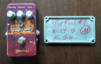 Effects pedals from Skreddy, Catalinbread, Diamond, Danelectro