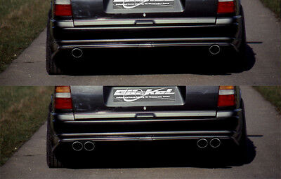 Mercedes Benz W124 T Premium Sportauspuff Auspuff Endschalldämpfer VA li-re C