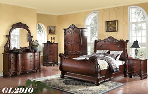 classic king & queen bedroom furniture full beds sets,GL2910