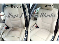 Leather Repair, Mobile Car Seat repair/ Sofa leather repair, connollising, recolour, restoration