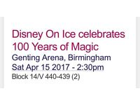 2 tickets for Disney on ice