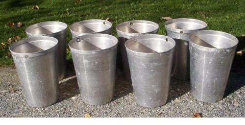 15 Aluminum Sap Buckets Maple Syrup Bucket VERY NICE