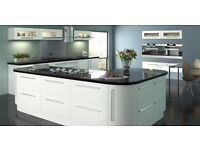 High Gloss Kitchens with units, doors, handles and choice of Worktop. Brand New Glasgow.