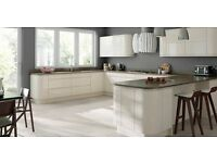 New, Modern Handle-Less Gloss Kitchen, with Soft close doors and drawer units, Worktop, Glasgow