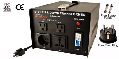 Simran Ac-3000 Watt Step Up down Voltage Converter Transformer 110v 220v 3000 W