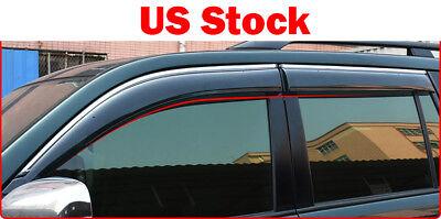 For Toyota Land Cruiser Prado FJ150 2010-2018 4PCS Window Visor Sun Rain Shade 2010 Toyota Land Cruiser