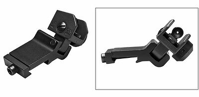 Folding Rifle - 45 Degree Offset Backup Rifle Sight - Folding Rear Angle Sight Dual Apertures