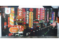 Cool 'Neon Shanghai' Canvas Print