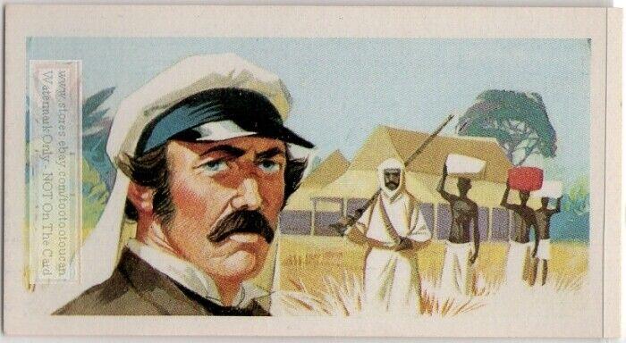 David Livingstone Scottish Missionary Africa Doctor Explore Vintage Trade  Card