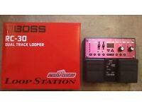 BOSS RC30 Looper - 2 weeks old with AC adaptor