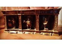 Antique/vintage Unusal pickwick figures brass box / tin.