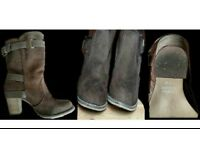 LADIES FOUR PAIRS OF ANKLE BOOTS