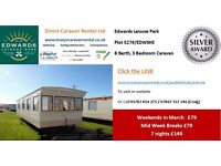 Towyn, North Wales, Edwards Leisure Park Weekends from £79 - 8 Berth 3 Bed (EDWSHE)