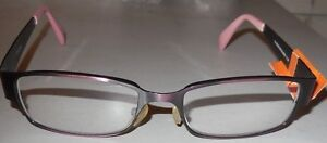 +2.25 Borghese Reading Glasses Brown Bronze Metal Rectanglar Frame w Defects