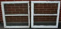 Vintage / Antique Wood Framed Windows