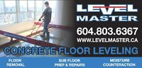 Concrete Floor Leveling Grinding & Repairs LEVEL MASTER