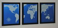 NEW: aluminum world maps - wall art