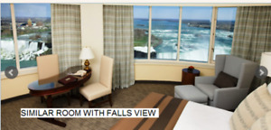 NIAGARA FALLS HOTEL ROOM  WITH FALLSVIEW  SATURDAY DEC 8