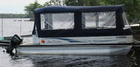 21 ft Pontoon Party Boat with Galvanized Trailer