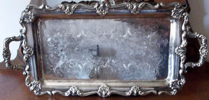 ANTIQUE SILVER TRAY WITH BEAUTIFUL DESIGN Kitchener / Waterloo Kitchener Area image 2