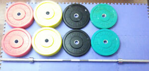 York Olympic Bumper Plate Weight Set