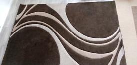 Brown Mirage Design Rug