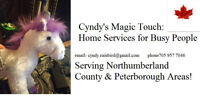 Cyndy's Magic Touch Home Services: Northumberland/Peterborough