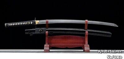 Handmade Full Tang Katana T10 Steel Clay Treatment Real Samurai Sword