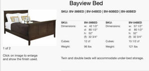 Ideal child's bed! Canadian made solid hardwood twin trundle bed