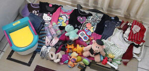 12to18 month baby girl cloths+feeder+shoes+toys+potty seat