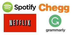 1-Year Subscription to: Spotify | Netflix | Chegg | Grammarly
