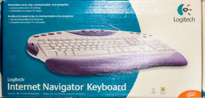 Logitech Internet Navigator Keyboard-Customizable-Windows-Mac