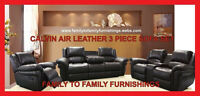 **SAVE THE TAX EVENT** CALVIN AIR LEATHER 3 PC SOFA SET